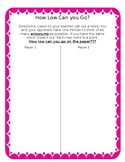 How Low Can You Go? Antonyms Game FREEBIE