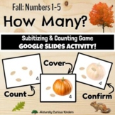 Fall How Many? 1-5 Subitizing, Number Sense & Counting Smartboard Game Set 2