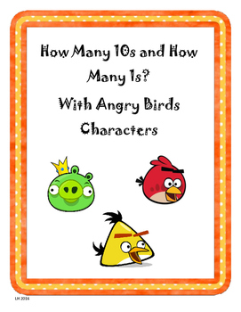How Many 10s and How Many 1s With Angry Birds Characters