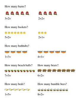 #2 How Many Addition Kindergarten Math
