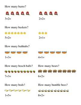 #2 How Many Addition Kindergarten Math