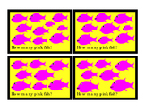 How Many Addition Numbers To 10 Printable Cards Kindergarten Math PINK Fish 3pgs