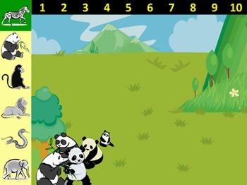 How Many Animals PUZZLE: English Communication Activities