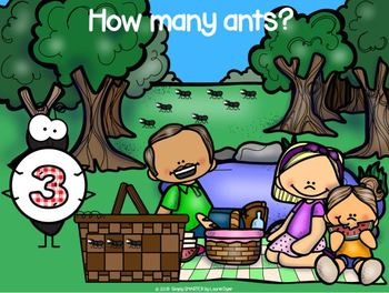 Ant Picnic Themed Counting and Ten Frame Activities For GOOGLE CLASSROOM