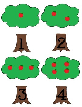 How Many Apples? File Folder Game
