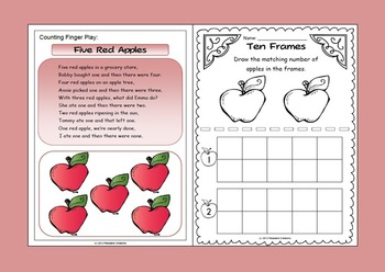 How Many Apples? - Math Counting Activities
