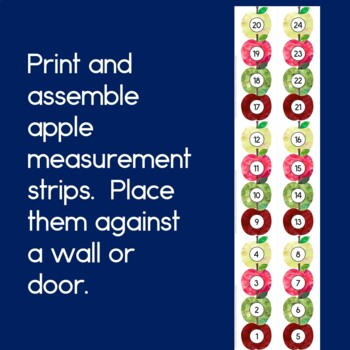 How Many Apples Tall Are You?  FREE Measurement Activity