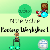 Note value worksheet