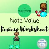 Note value worksheet