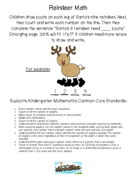 How Many Boots? Reindeer Math