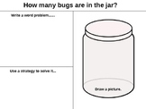 How Many Bugs in a Jar? (Word Problem Reproducible)