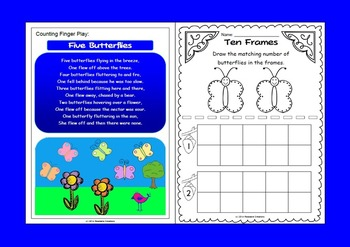 How Many Butterflies? - Math Counting Activities