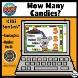 How Many Candies? Counting Sets 1 to 10 – BOOM CARDS Digit
