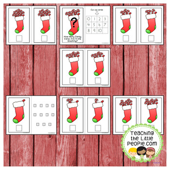 How Many Candy Canes in the Stocking: A Counting to 10 Interactive Book