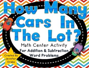How Many Cars In The Lot?  Hands On Addition & Subtraction