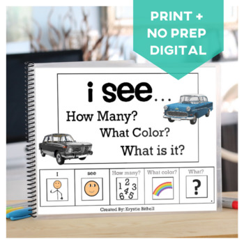 How Many? Color? What? Cars Book Special Education Autism