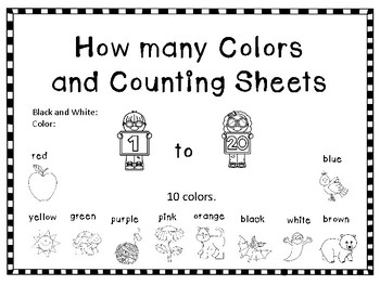 How Many Colors and Counting Sheets