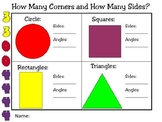 How Many Corners & How Many Sides? Plane Shapes PowerPoint Sort