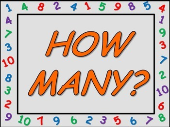 How Many?  (Counting 1-10 objects) Clothes Pin Activity