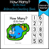 How Many? Counting At The Pond - Interactive Book