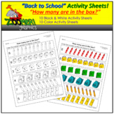 How Many? Counting Groups of Objects Activity Sheets