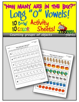 How Many? Counting Groups of Objects (Long O Words) Activity Sheets