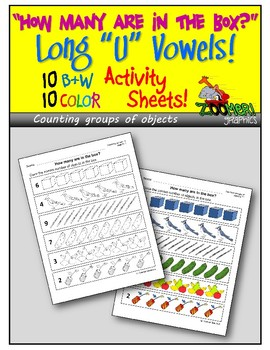 How Many? Counting Groups of Objects (Long U Words) Activity Sheets