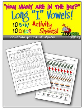 How Many? Counting Groups of Objects (Long i Words) Activity Sheets