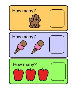 How Many?  Counting Numbers 1 - 5