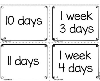 Days of the Week Math Game