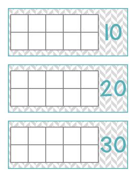 How Many Days in School Ten Frames