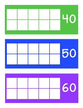 How Many Days in School Ten Frames: Rainbow