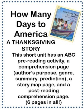 How Many Days to America?- A Thanksgiving Story