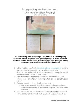 Integrating Writing and Art: An Immigration Project