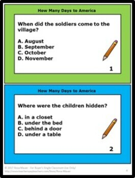 How Many Days to America A Thanksgiving Story by Eve Bunting Book Unit