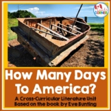 How Many Days to America - A Thanksgiving Eve Bunting Literature Unit