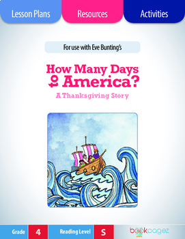 How Many Days to America Lesson Plans & Activities Package, Fourth Grade (CCSS)