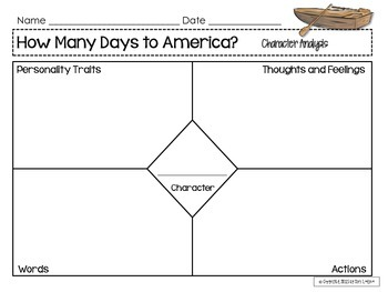 How Many Days to America Literacy Pack