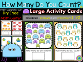 How Many Do You Count? Large, Dry Erase Math Center~ Touch