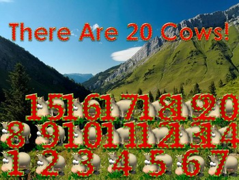 How Many Do You See 20 PowerPoint Games (1 - 20 Numbers)