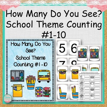 #SPEDCHRISTMAS1 How Many Do You See? School Theme Counting #1 -10