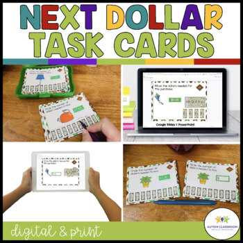 How Many Dollars? Department Store Task Cards: Money Skill