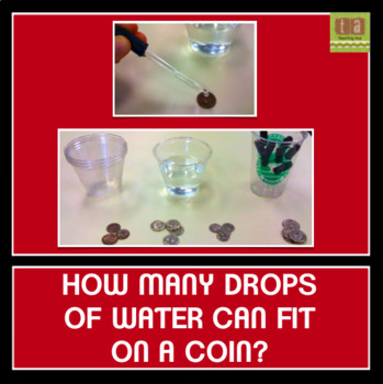 How Many Drops of Water Can Fit on a Coin? Predicting and Counting Experiment