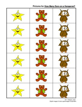 How Many Ears on a Kangaroo? - interval counting / tables