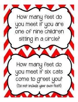 How Many Feet Do You Meet? Math Center Activity