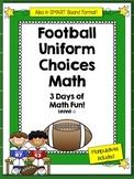 Football Math Problem Solving Lessons