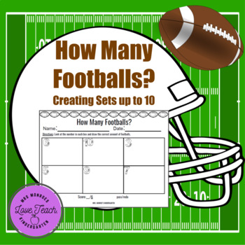 How Many Footballs? - creating sets up to 10