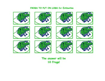 How Many Frogs Will Fit On A Log?  An Estimation and Measurement Game