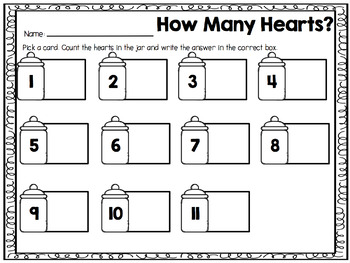 How Many Hearts? {A Counting 0-20 Center}