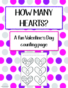 """Teen numbers activity: """"How Many Hearts?"""" - Supports the Common Core"""